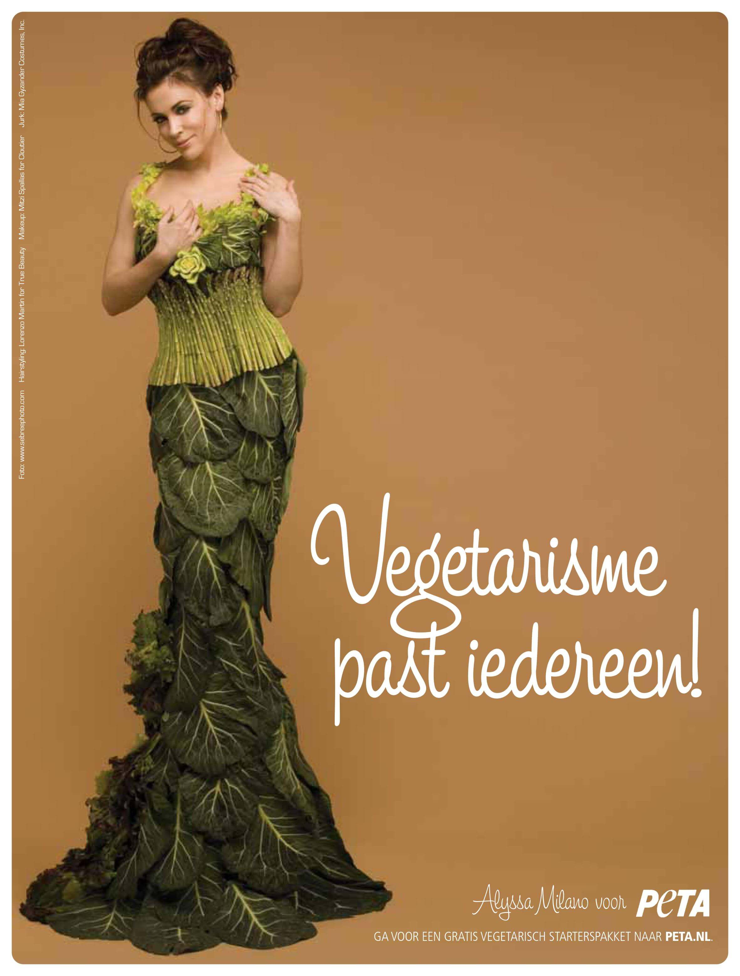 Alyssa Milano is PETA's meest Charmante Groenten Godin tot nu toe!