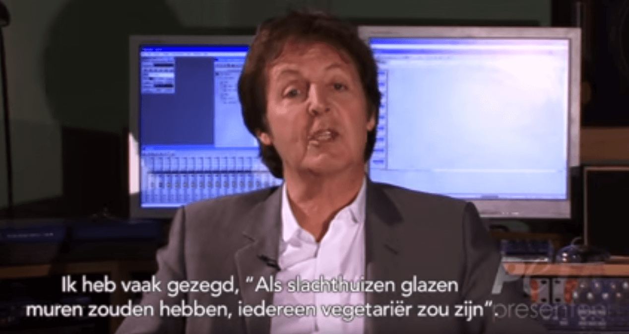 PAUL MCCARTNEY SPREEKT 'GLAZEN MUREN' VIDEO IN