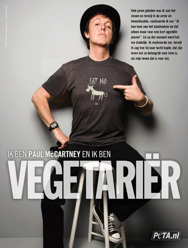 Ik ben Paul McCartney en ik ben vegetariër