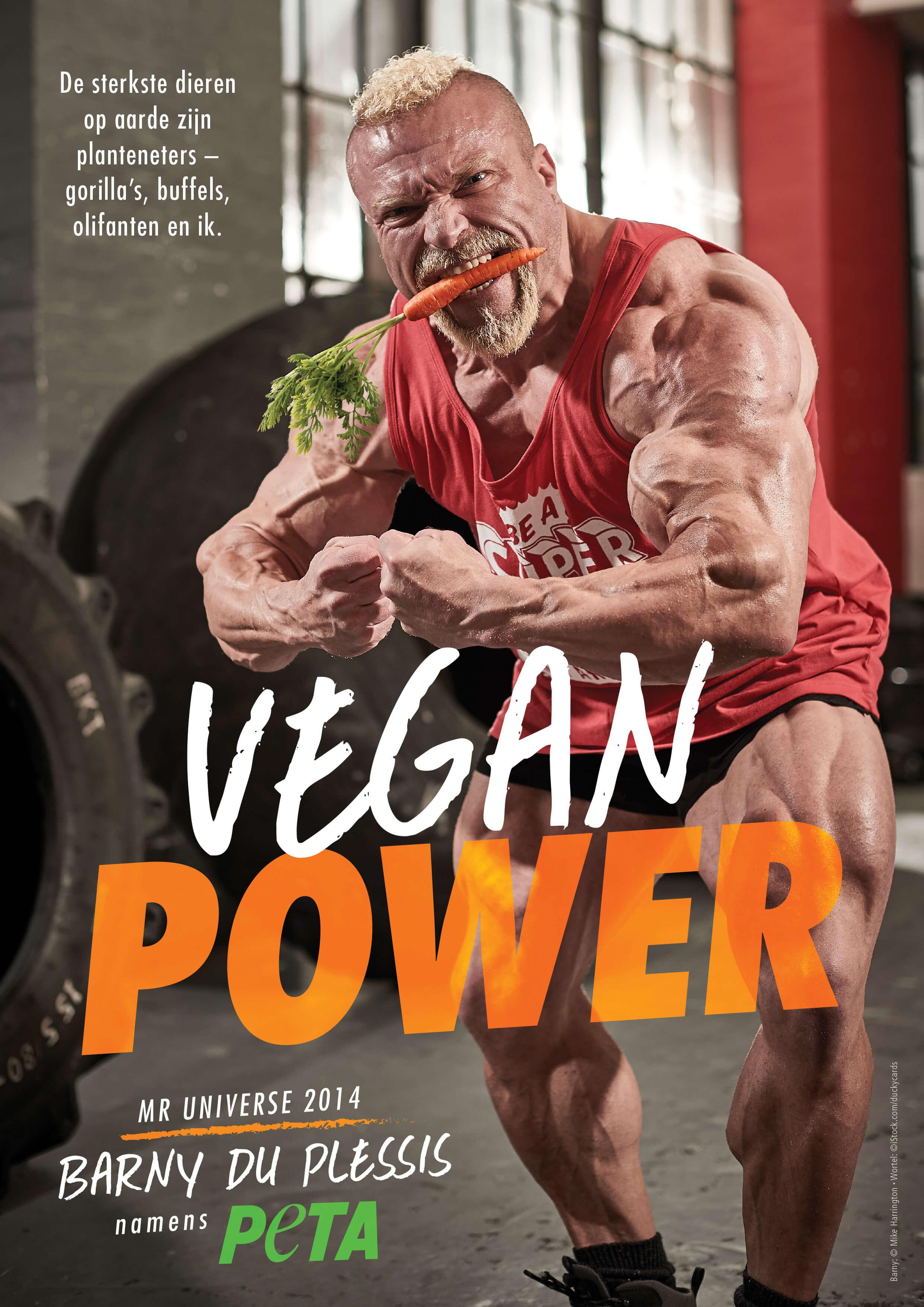 Vegan Power: Mr Universe is sterker zonder vlees
