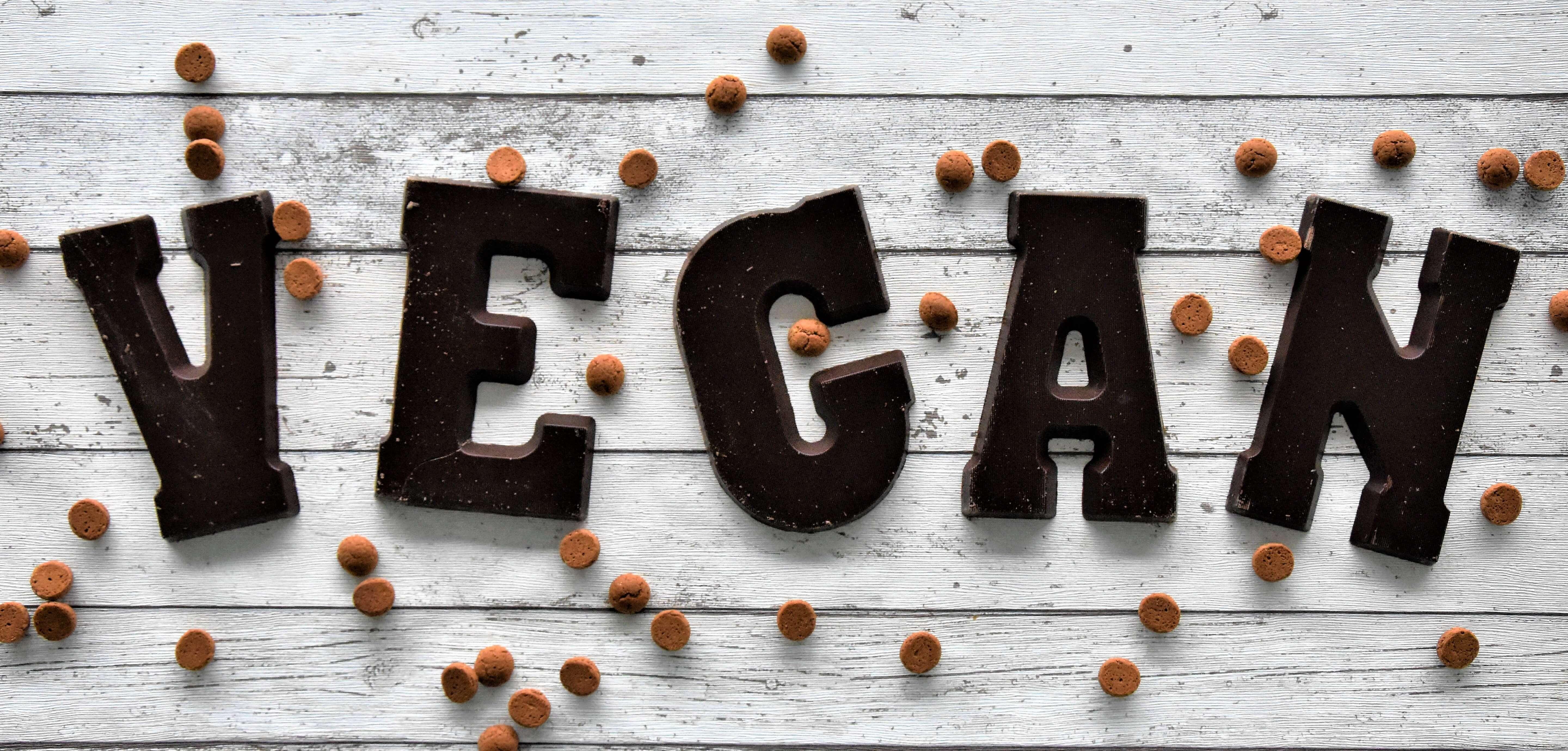 Sinterklaas veganistisch chocoladeletter
