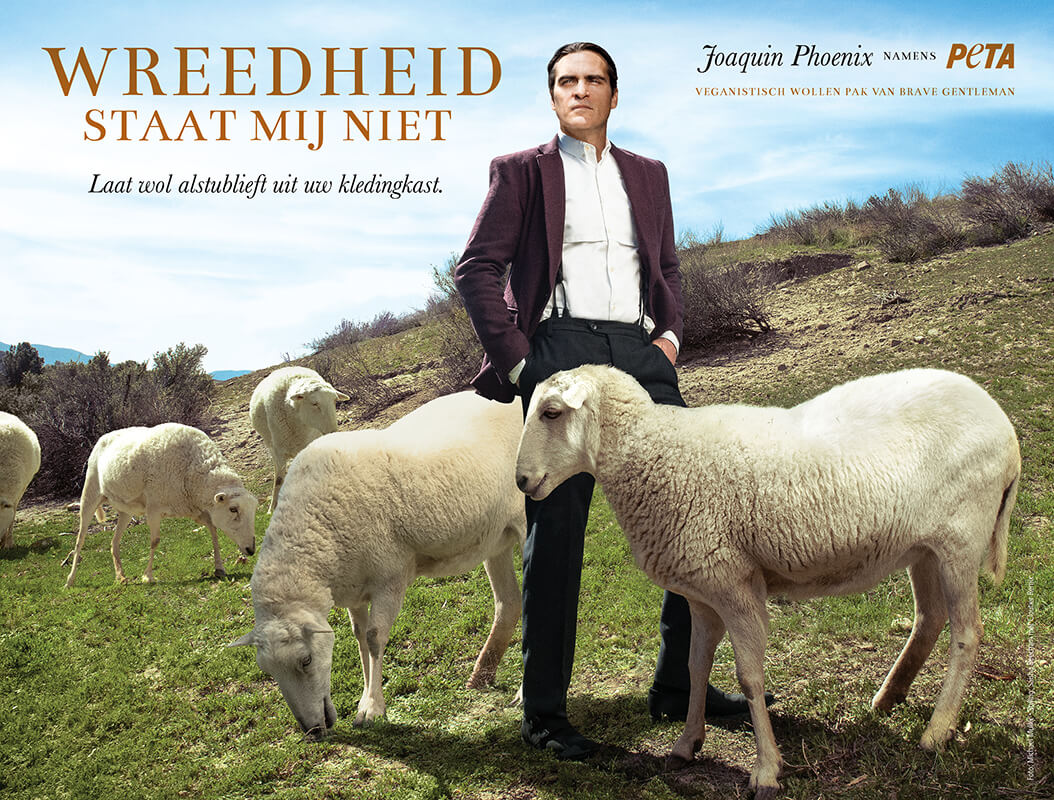 Joaquin Phoenix PETA Nederland Wol