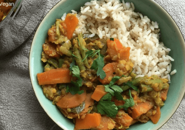 De lekkerste vegan curry: recept van Lisa Goes Vegan