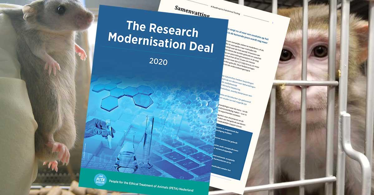 PETA's 'New Deal' om biomedisch onderzoek en wettelijk verplichte veiligheids- en werkzaamheidstesten te moderniseren