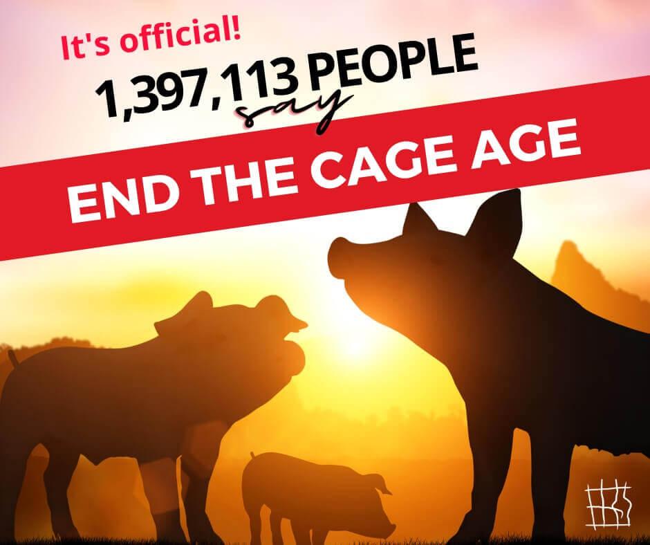 Stop de kooien-update: 1.397.113 handtekeningen ingediend bij de Europese Commissie